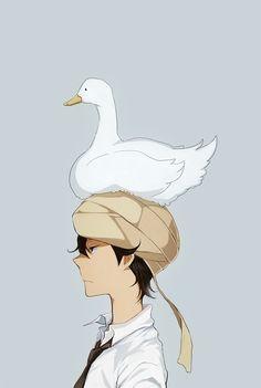 Tsuritama ~~ Akira has amazing balance
