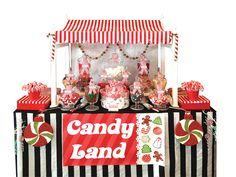 A Candy Land Lolly Buffet was styled by Sugarlicious Parties at Doltone House for a corporate Christmas Party for 200 guests. Lollies in colours of red, green & white were used. The red & white striped lolly buffet canopy matched the theme perfectly. www.sugarlicious.com.au
