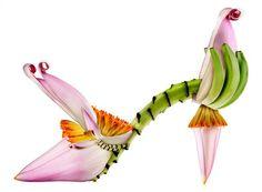 """A shoe so sweet it doubles as a late-night dessert . . . "" A banana flower shoe by Michel Tcherevkoff."