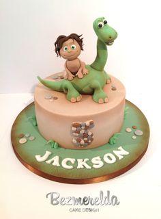 The Good Dinosaur - Cake by Bezmerelda The Good Dinosaur Cake, Dino Cake, Le Voyage D'arlo, Arlo Und Spot, Dinosaur Birthday Cakes, 3rd Birthday, Disney Cakes, Cakes For Boys, Baby Kind