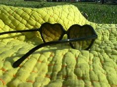 Baby, put on heart-shaped sunglasses.