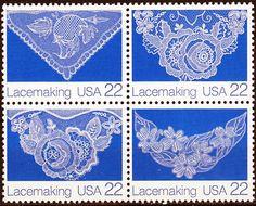 United States  - Scott Nos. 2351-2354 American Folk Art Series Lacemaking August 14, 1987