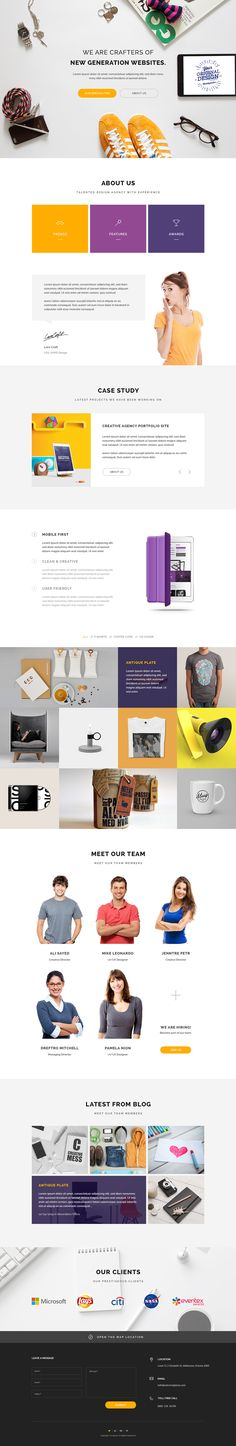 Home Page - Web Design Agency on Behance