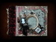 Use mariposa stack with deep reds, golds, and black accents plus lots of venise lace to make it look more victorian.Vintage mini album and 2016 desktop Calendar