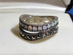Vintage Jewelry Ring Sterling Silver Opal by DLSpecialties on Etsy