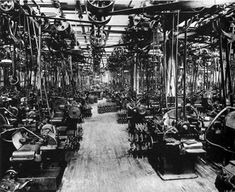 Crankshaft Grinding Department at Ford Motor Company Photographic Print Ford Motor Company, Highland Park Michigan, Industrial Photography, Vintage Race Car, Vintage Auto, Industrial Revolution, Assembly Line, Historical Photos, Old Photos