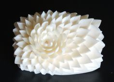 Flor esculpida em sabonete.