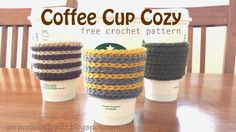 Coffee Cup Cozy- Free Crochet Pattern, crochet coffee cup sleeve
