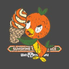 Awesome 'Florida Orange Bird' design on TeePublic!   Great product - Had these made for our trip to Disney - lots of compliments from staff and guests wanting to know where we got them.. cutest tee ever.