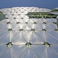 building stays cool during the warm summer months when gas fills the ETFE plastic cushions that cover its exterior would inflate to protect as a second skin the building. Media-ICT by Cloud 9 Architects wins World Building of the Year 2011