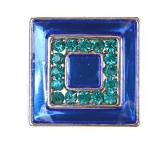 Blue and Turquoise Square Jewel