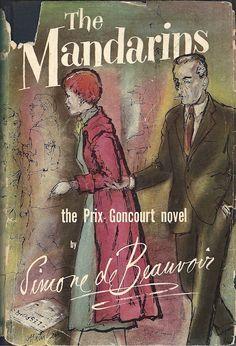 The Mandarins by Simone de Beauvoir 1956   Cover art by Laszlo Matulay