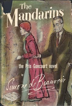 The Mandarins by Simone de Beauvoir 1956 | Cover art by Laszlo Matulay