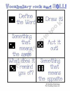 My 6th Graders will love this!  Another great one from Scholastic Teachers!  A roll of the dice determines what a student's task will be.