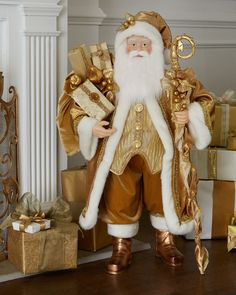 """Golden 38"""" Santa"""