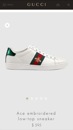 38c68be1cd1f Gucci Embroidered Bee sneaker Gucci Uk