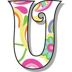 Buchstabe - Letter U Alphabet Templates, Alphabet Stencils, Alphabet Print, Applique Templates, Letter Symbols, Alphabet And Numbers, Bird Silhouette Art, Scrapbook Letters, 5 Min Crafts