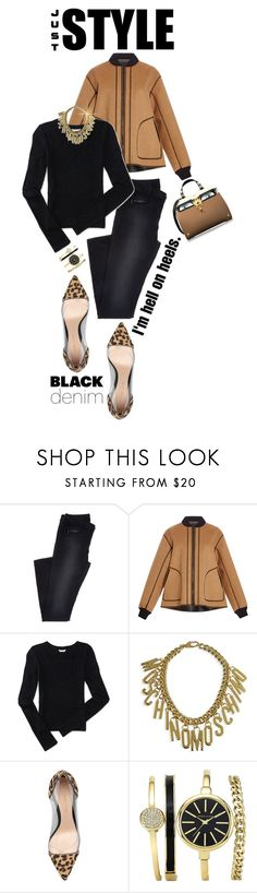 """""""Denim Trend: Black Jeans"""" by shortyluv718 ❤ liked on Polyvore featuring Alberta Ferretti, Aéropostale, Moschino, Gianvito Rossi, Giancarlo Petriglia, women's clothing, women's fashion, women, female and woman"""