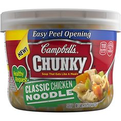Campbell's Chunky Healthy Request Soup, Classic Chicken Noodle, 15.25 Ounce (Pack of 8) *** Unbelievable product is here! : Dinner Ingredients