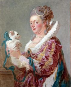 Jean Honoré Fragonard (French, 1732–1806) Portrait of a Woman with a Dog. MET NY