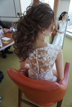 Kids Prom Dresses, Wedding Dresses, Hairdo Wedding, Hair Arrange, Japanese Hairstyle, How To Make Hair, Bride Hairstyles, Bridal Style, Bridal Hair