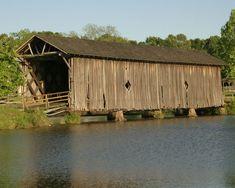 Covered bridge in Sumter County, Alabama.