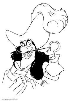 Disney villain Captain Hook - print out