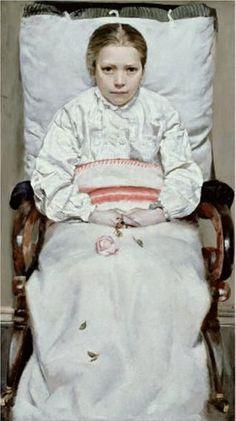 Sick Girl by Christian Krohg