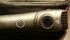 [Werbung] Braun BT5090 Barttrimmer : Drehregler am Aufsatz und Powerknopf an der Unterseite des Trimmers