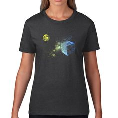 Items similar to Cube earth. on Etsy Dark Grey, Cube, My Etsy Shop, Earth, Trending Outfits, Tees, Mens Tops, Shopping, Vintage