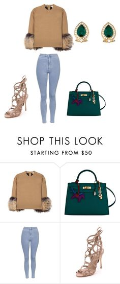 """""""Untitled #79"""" by chey261 ❤ liked on Polyvore featuring Michael Kors, Hermès, Topshop, Schutz and Nina Ricci"""