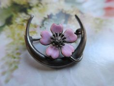 Victorian Enameled Honeymoon Pin 10K