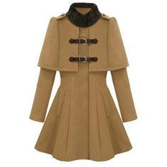 Long collar coat.