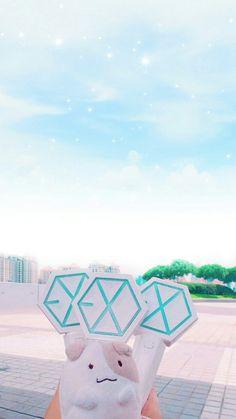 Lightstick Exo, Kpop Exo, Exo Kai, Baekhyun, Cute Wallpaper Backgrounds, I Wallpaper, Cute Wallpapers, Exo Merch, Exo Songs