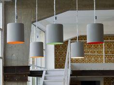 RESIN PENDANT LAMP BIN CEMENTO MATT CEMENTO COLLECTION BY IN-ES.ARTDESIGN