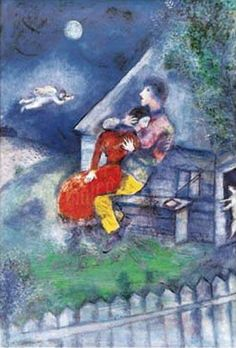 Marc Chagall - The Lovers.......this is a favorite!