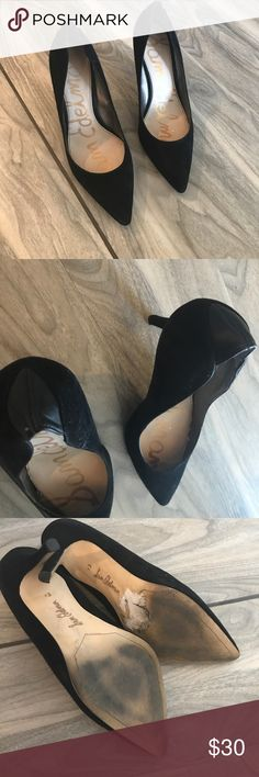 Sam Edelman black heels Sam Edelman size 8.5 black heels. Some scuff marks on the bottom from wear but not visible elsewhere. In great condition. Perfect staple item for your closet Sam Edelman Shoes Heels