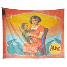 Vintage Turtle Baby Carnival Sideshow Banner