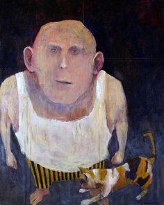 Mel McCuddin - 'Big Softie' - The Art Spirit Gallery of Fine Art Muse Kunst, Muse Art, Collage, Outsider Art, Figure Painting, American Artists, Figurative Art, Illustration, Folk Art