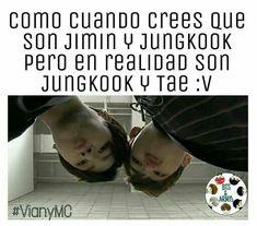 Yo si me di cuenta que era Jungkook y Tae :v