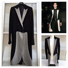 UltraRare   Great Dior Homme AW06 Hedi Slimane Slim Fit Stylish Coat   DiorHomme  LongCoat f692f80282f