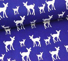 Stoff - Deer - Blau - Copenhagen Print Factory