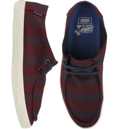 Vans Rata Vulc Shoes - (Stripes) Decadent Chocolate/Navy $43.00 #vans #ratavulc