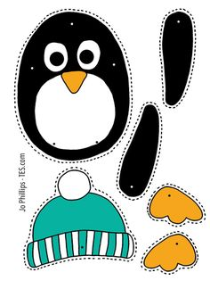 Christmas – Colour, cut, pin and play – 6 designs – PRECOLOURED & BLANK Xmas split pin activitity - Kinderbetreuung Preschool Christmas Crafts, Kindergarten Crafts, Winter Crafts For Kids, Preschool Crafts, Kids Crafts, Sand Crafts, Paper Crafts, Penguin Craft, Do It Yourself Crafts