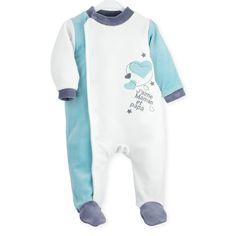 Pyjama naissance en velours  Pyjama  naissance  bebe  leskinousses Pyjama  Naissance Garçon a6221f195fc