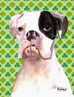 Cooper St Patrick's Day Boxer 2-Sided Garden Flag