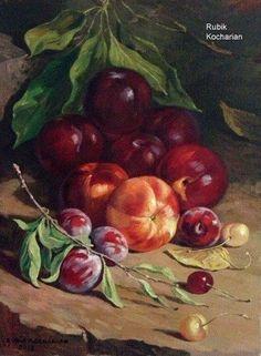 Still Life Images, Still Life Art, Fruit Picture, Autumn Scenes, Fruit Painting, Illusion Art, Fruit Art, Conceptual Art, Botanical Prints