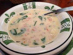 Yum try this for a braces friendly meal grilled cheese Olive garden soups chicken gnocchi