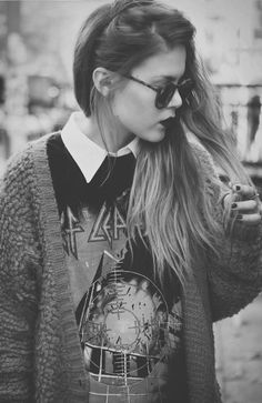 #sweater #cardigan  #round #glasses #lipstick