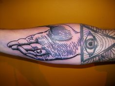 alchemy hand & masonic eye by lyam